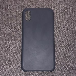 Matte slate gray iPhone case